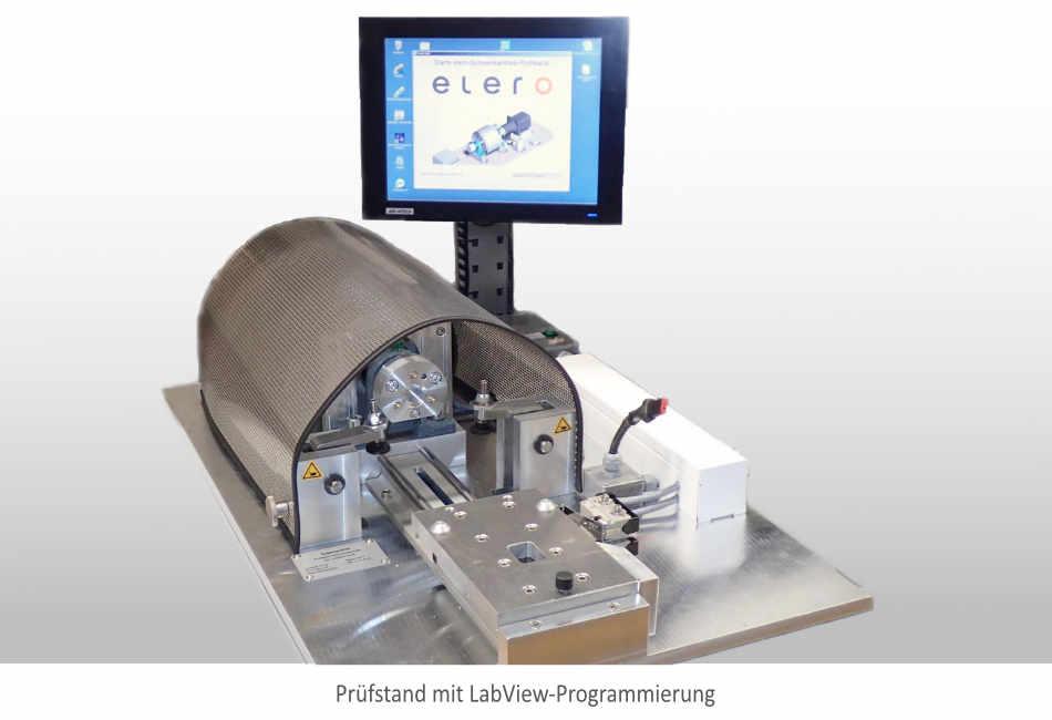 Prüfstand mit LabView für Schrittmotoren