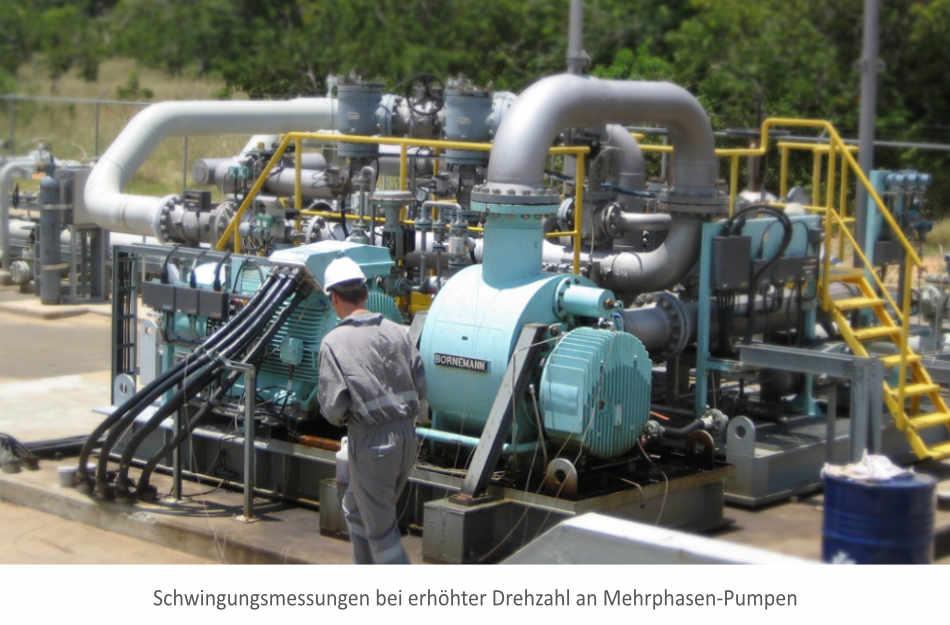 Schwingungsmessung an Ölförder-Pumpe
