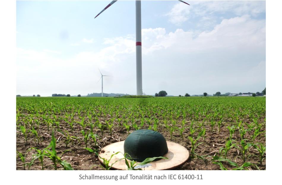 Schallmessung vor Windkraftanlage